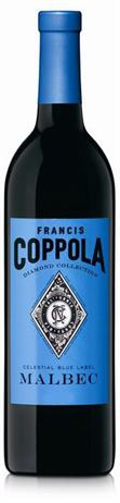 Francis Ford Coppola Diamond Collection Malbec Celestial Blue Label